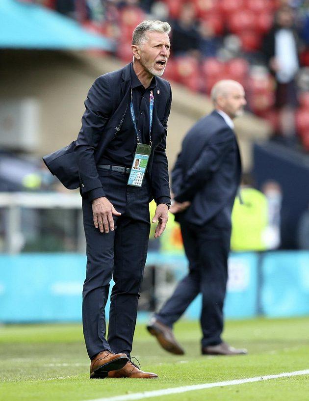 Coach Jaroslav Šilhavý during the match with Scotland.