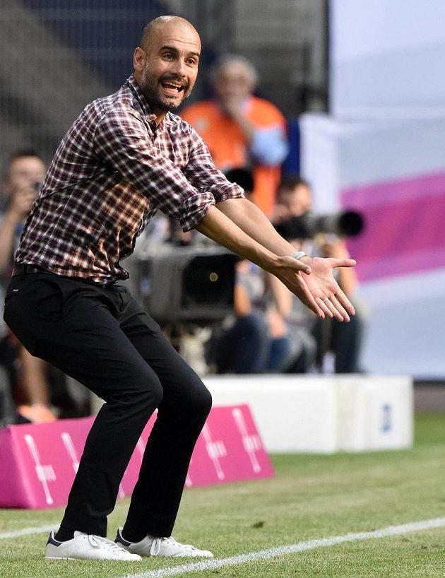 Trenér Bayernu Pep Guardiola.