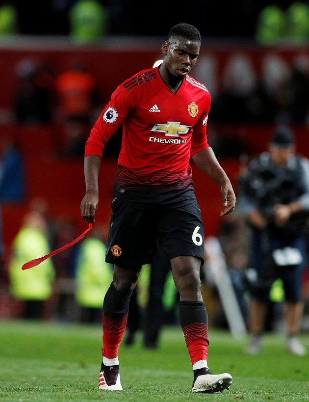 Paul Pogba z Manchesteru United po derby.