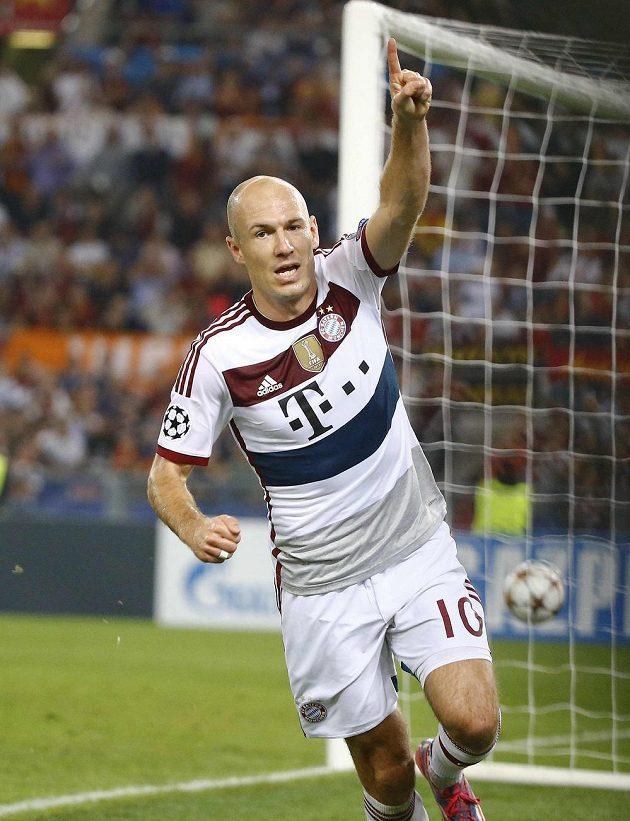 Arjen Robben byl proti AS Řím opět gólovou zbraní Bayernu.