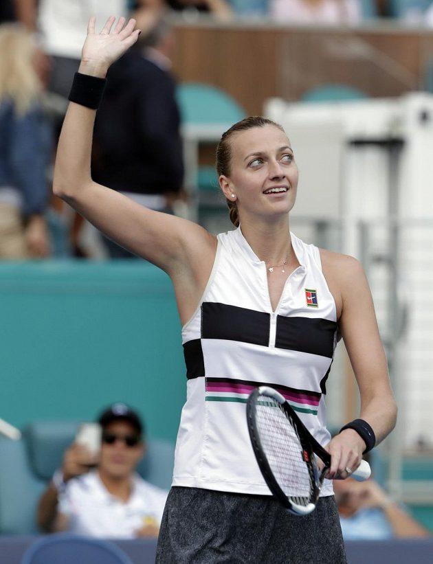 Petra Kvitová postoupila v Miami do třetího kola, když porazila Řekyni Marii Sakkariovou.