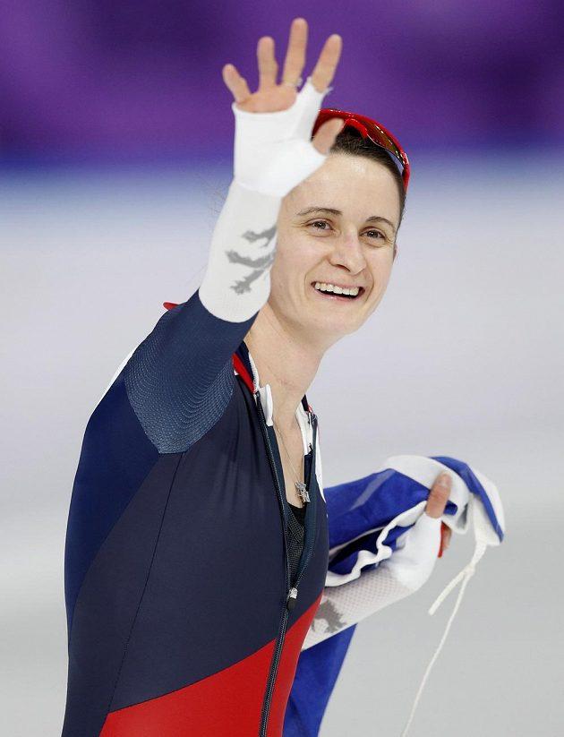 Radost Martiny Sáblíkové ze stříbrné medaile na pětikilometrové trati.