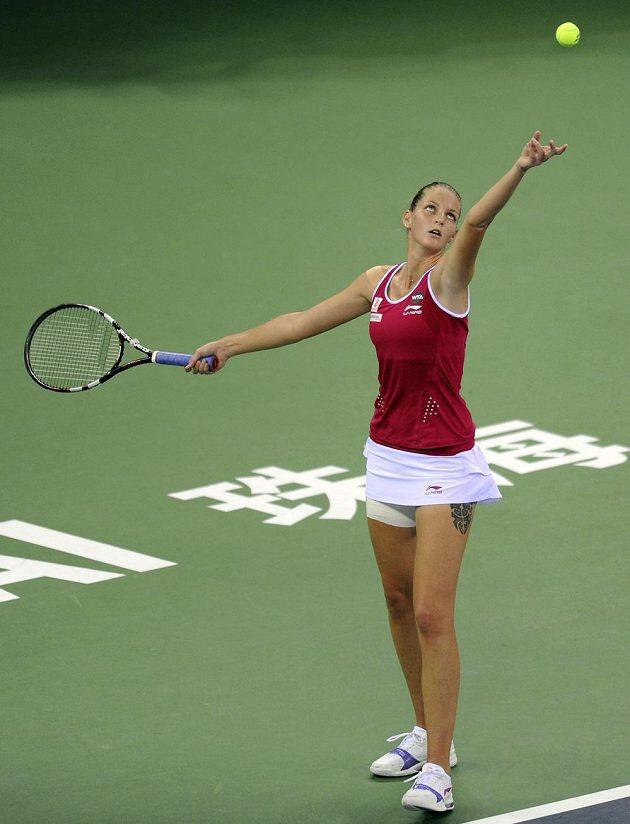 Karolína Plíšková v semifinále turnaje v Ču-chaj s Ukrajinkou Elinou Svitolinovou.