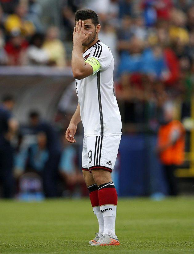 Německý kapitán Kevin Volland v semifinále fotbalového ME do 21 let v Olomouci