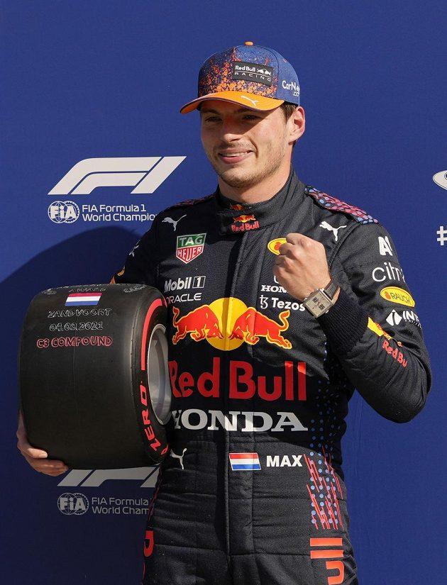 Vítěz Velké ceny Nizozemska a staronový lídr klasifikace MS Max Verstappen.