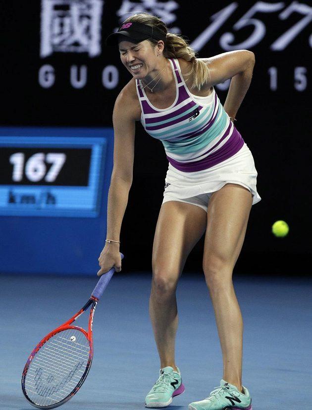Američanka Danielle Collinsová v semifinále AO s Petrou Kvitovou.