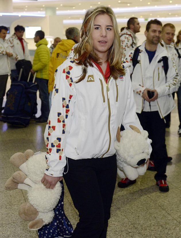 Snowboardistka Ester Ledecká odletěla 15. února z letiště Václava Havla v Praze na olympijské hry v Soči.