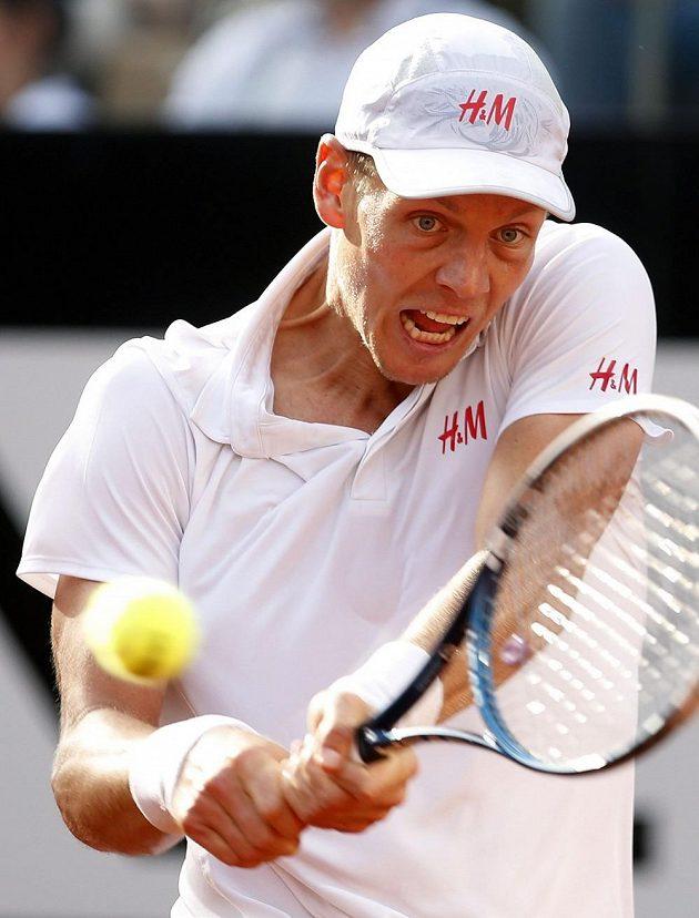 Tomáš Berdych vložil do bitvy s Nadalem veškeré své úsilí...