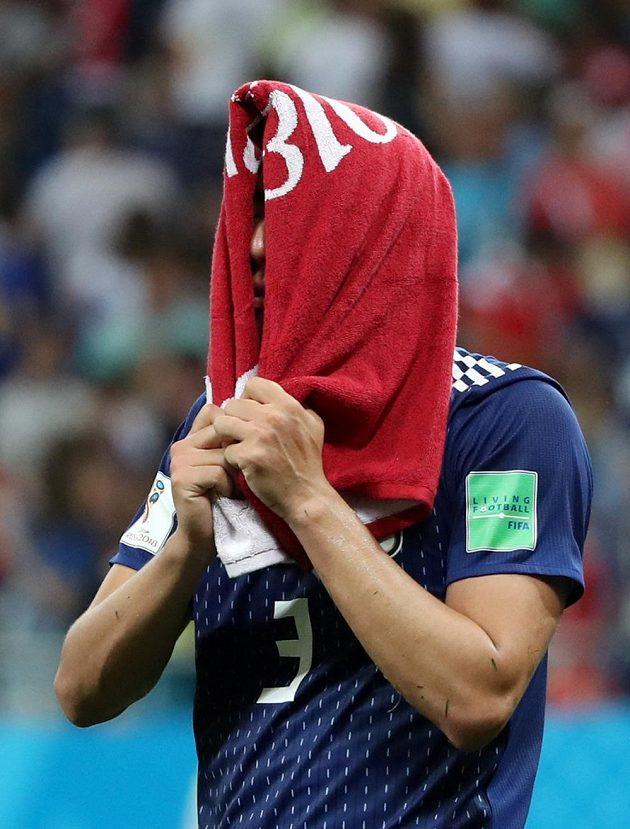 Japonský smutek po zápase s Belgií.