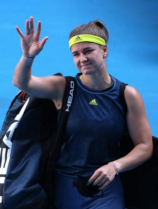 Karolína Muchová se loučí s letošním Ausralian Open. Byl to pro ni zatím životní turnaj.