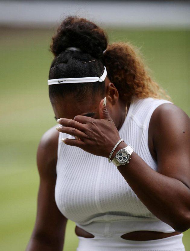 Serena Williamsová první set nezvládla