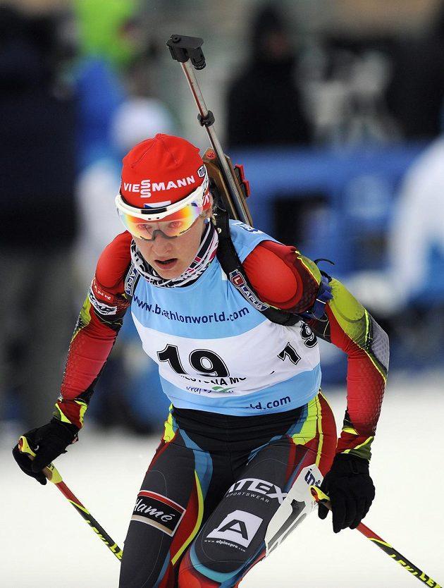 Lenka Šlechtová byla ve sprintu v Novém Městě na Moravě nejlepší českou biatlonistkou. Skončila ve čtvrté desítce.