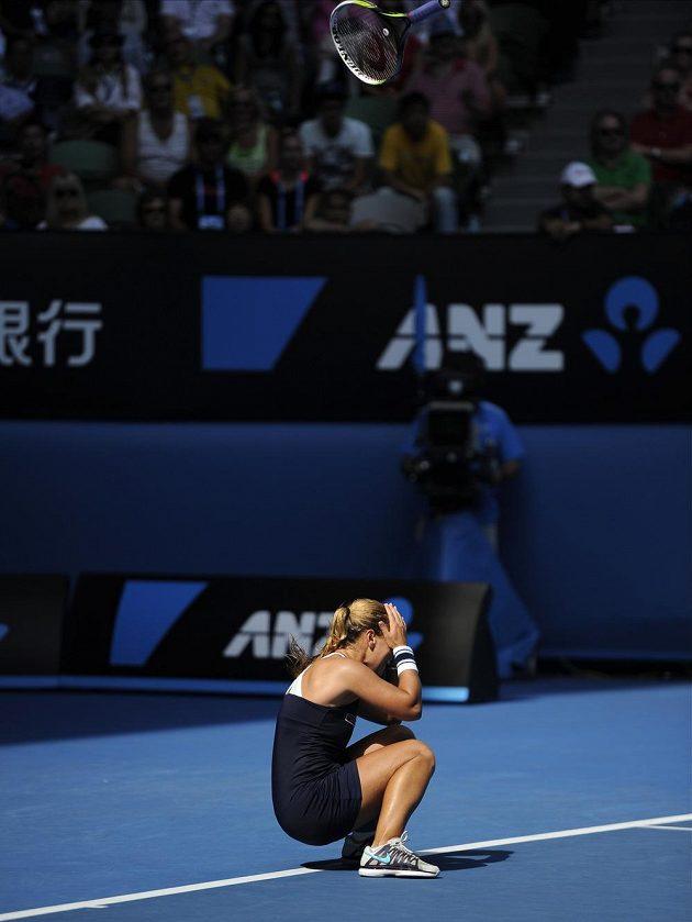 Dominka Cibulková nemůže uvěřit, že se poprvé v kariéře probojovala do grandslamového finále.