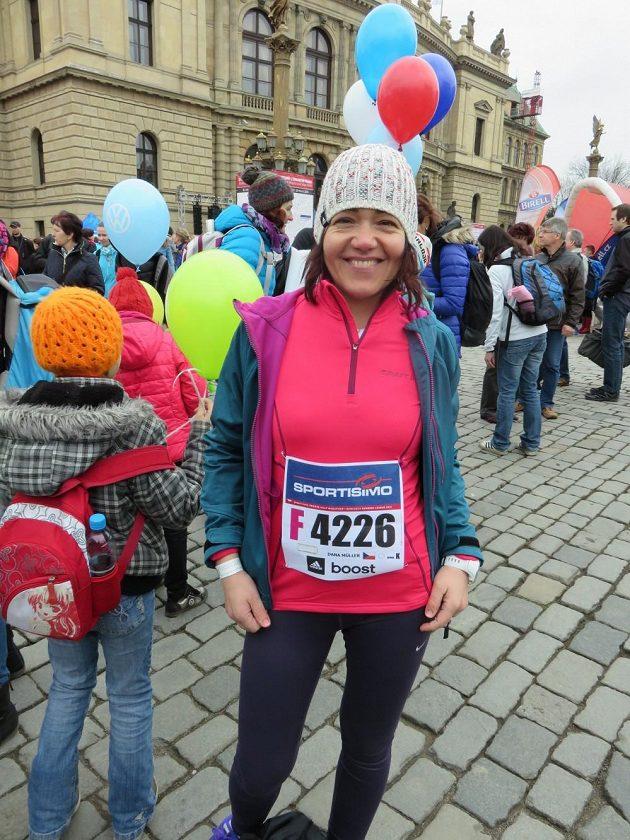 Dana Müller při pražském půlmaratónu 28. března 2015.