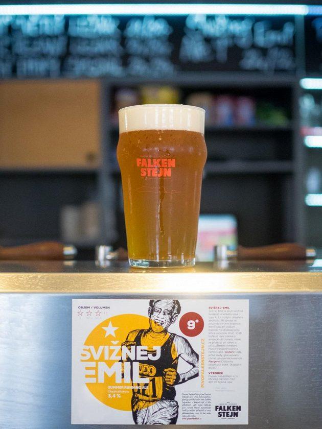 Svižnej Emil - pravděpodobně první maratónský pivní speciál v zemi.