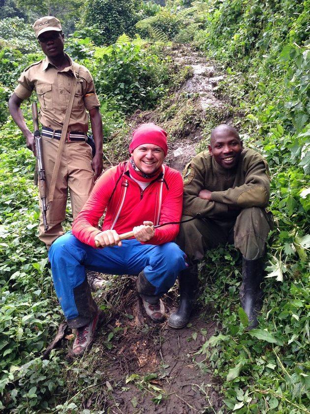 Martin Prokop v Ugandě.