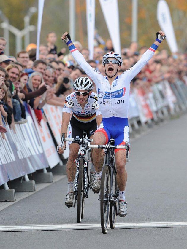Nizozemec Lars van der Haar vyhrál závod Světového poháru cyklokrosařů v Táboře.