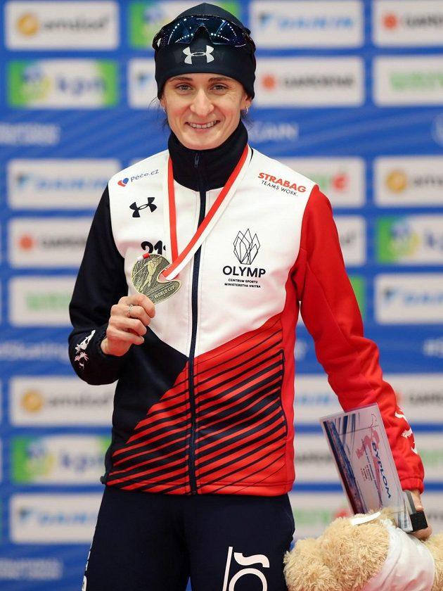 Problémy jsou zapomenuty. Martina Sáblíková ve druhém závodě SP na 3000 m v Tomaszówě vyhrála.
