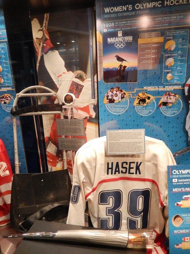 Koutek Dominika Haška v Síni slávy v Torontu.