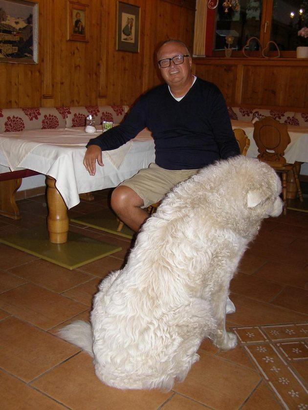 Vlastimil Košťál se svým mazlíčkem Sofií, abruzským ovčákem.