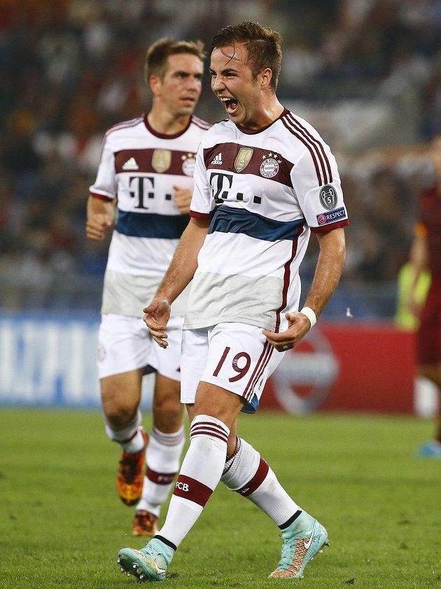 Mario Götze z Bayernu se proti AS Řím také zapsal mezi střelce.