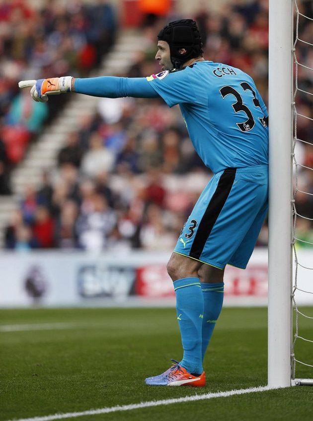 Gólman Arsenalu Petr Čech.