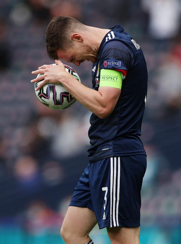 Disappointed Scottish Captain Andrew Robertson ...