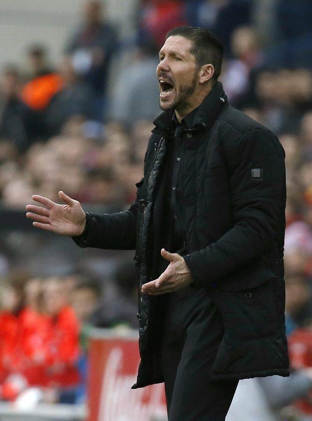Trenér fotbalistů Atlétika Madrid Diego Simeone.