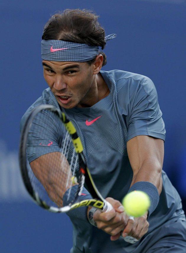 Rafael Nadal během finálového zápasu US Open proti Novaku Djokovičovi.