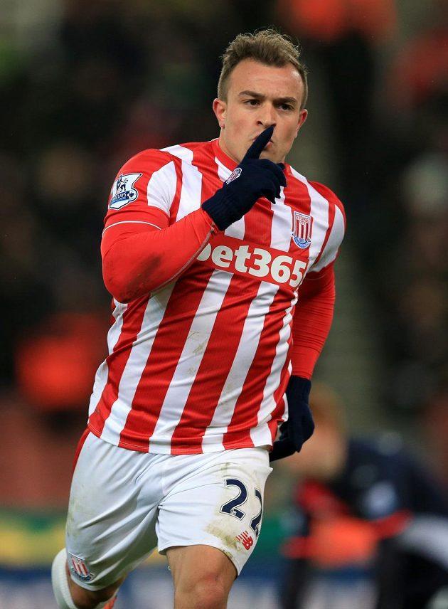 Xherdan Shaqiri rozhodl o výhře Stoke.
