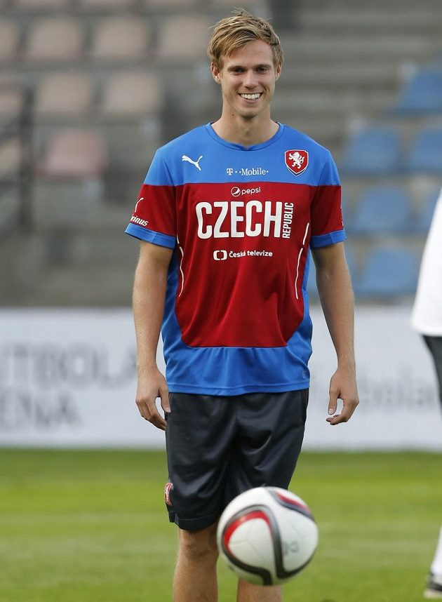 Tomáš Kalas na tréninku fotbalové reprezentace