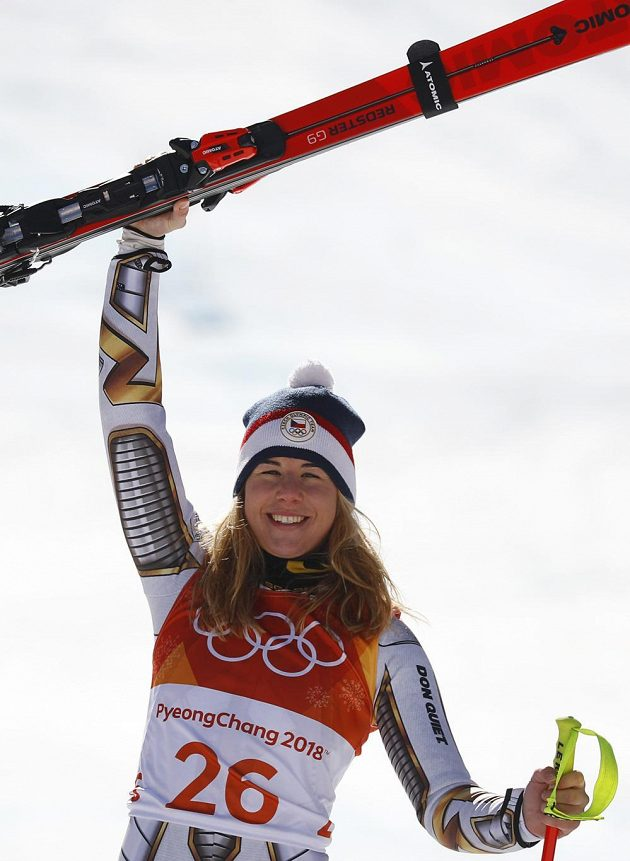 Jsem zlatá! Ester Ledecká slaví nečekaný olympijský triumf v super-G.