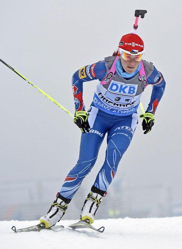 Spolehlivá Veronika Vitková tradičně jezdí poslední úsek štafetového závodu.