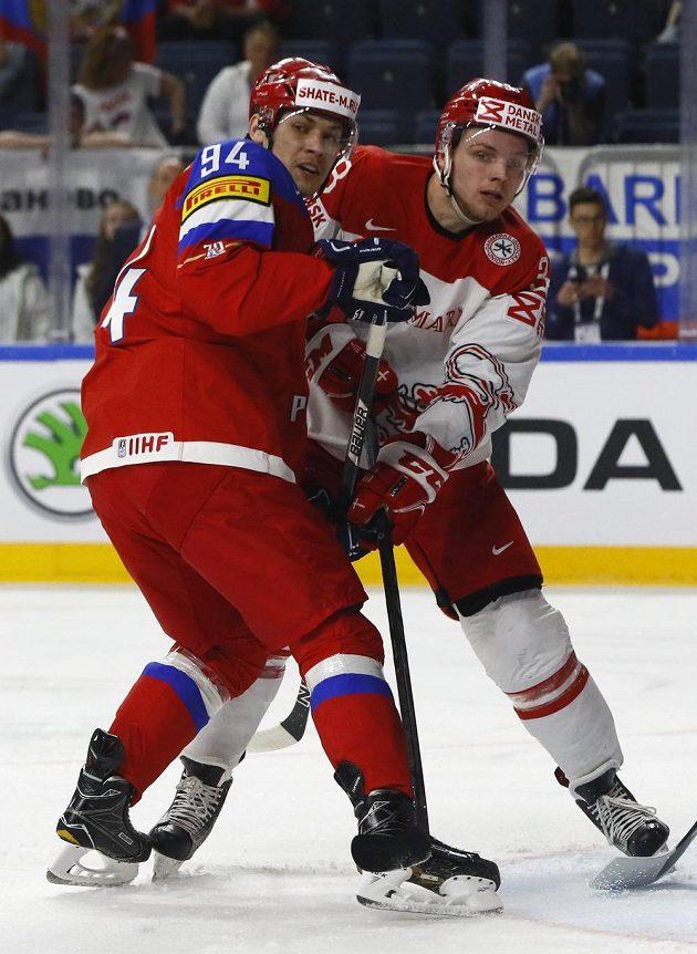 Rus Andrei Mironov (vlevo) a Dán Morten Poulsen.