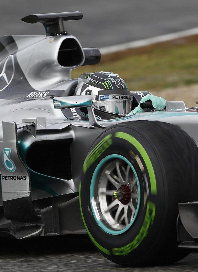 Vicemistr světa Nico Rosberg s mercedesem.