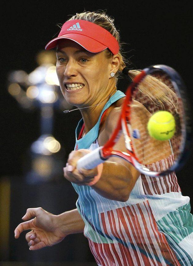 Německá tenistka Angelique Kerberová během ženského finále na letošním Australian Open.