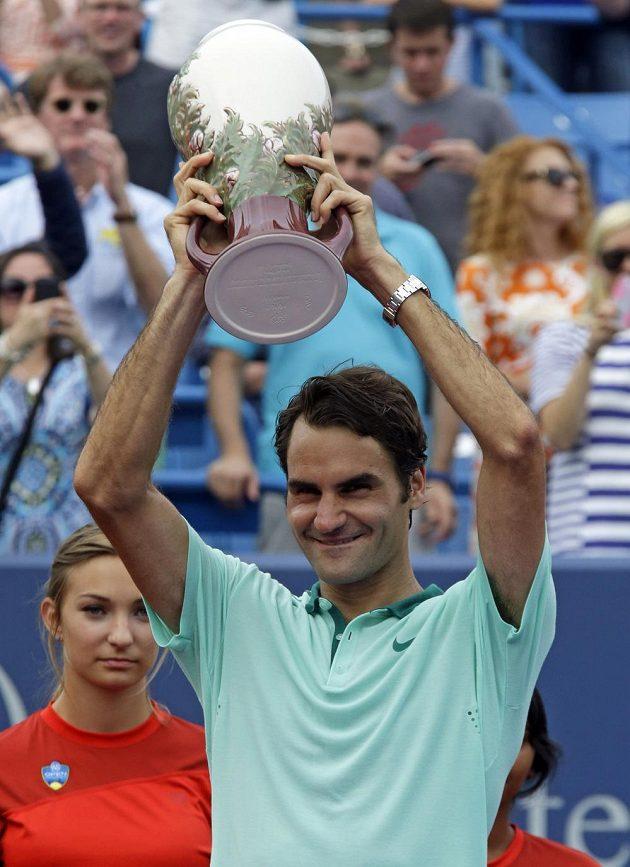 Švýcarský tenista Roger Federer vyhrál turnaj v Cincinnati.
