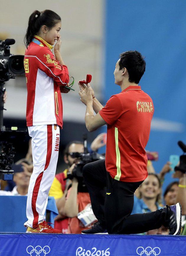 """Che C´ říká """"ano"""" svému partnerovi Čchin Kchaj."""