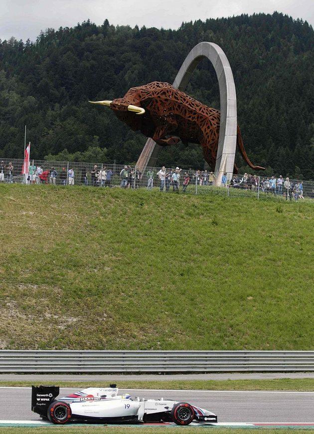 Brazilec Felipe Massa ze stáje Williams během kvalifikace na Velkou cenu Rakouska.