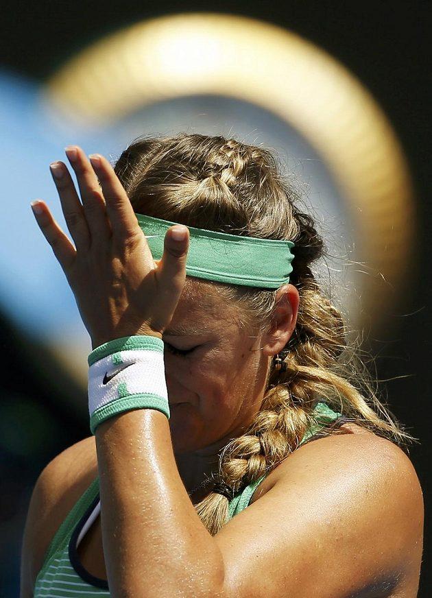 Victoria Azarenková si měla ve čtvrtfinálové partii v Melbourne co vyčítat.