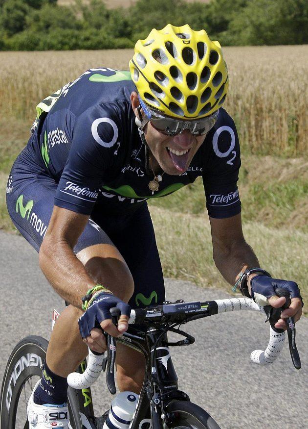 Výraz ve tváři Alejandra Valverdeho hovoří za vše. Španělský jezdec týmu Movistar ve 13. etapě Tour ztratil skoro deset minut a přišel o průběžnou druhou příčku.