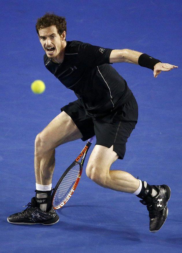 Britský tenista Andy Murray ve finále mužské dvouhry na letošním Australian Open.