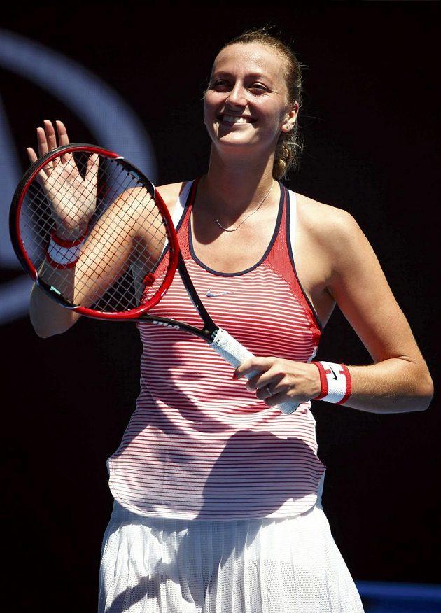 Radost Petry Kvitové. Vstup do úvodního grandslamového turnaje sezóny zvládla parádně.