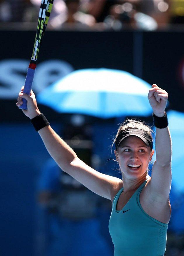 Kanaďanka Eugenie Bouchardová je v Melbourne mezi posledními čtyřmi.
