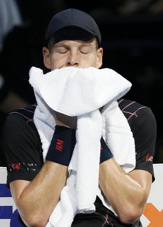 Tomáš Berdych po prohře se Srbem Novakem Djokovičem na Turnaji mistrů v Londýně dohrál.