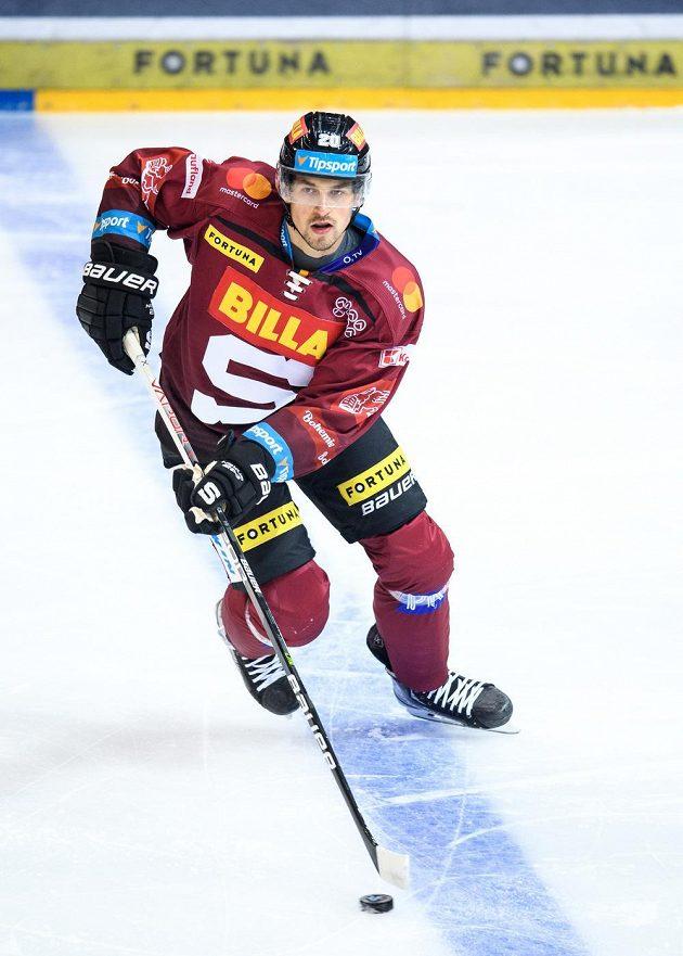 Hokejista Tomáš Dvořák ze Sparty.