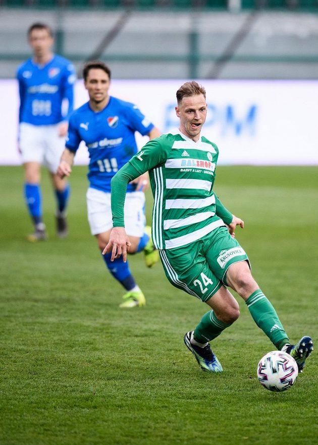 David Puškáč z Bohemians během utkání 27. kola Fortuna ligy