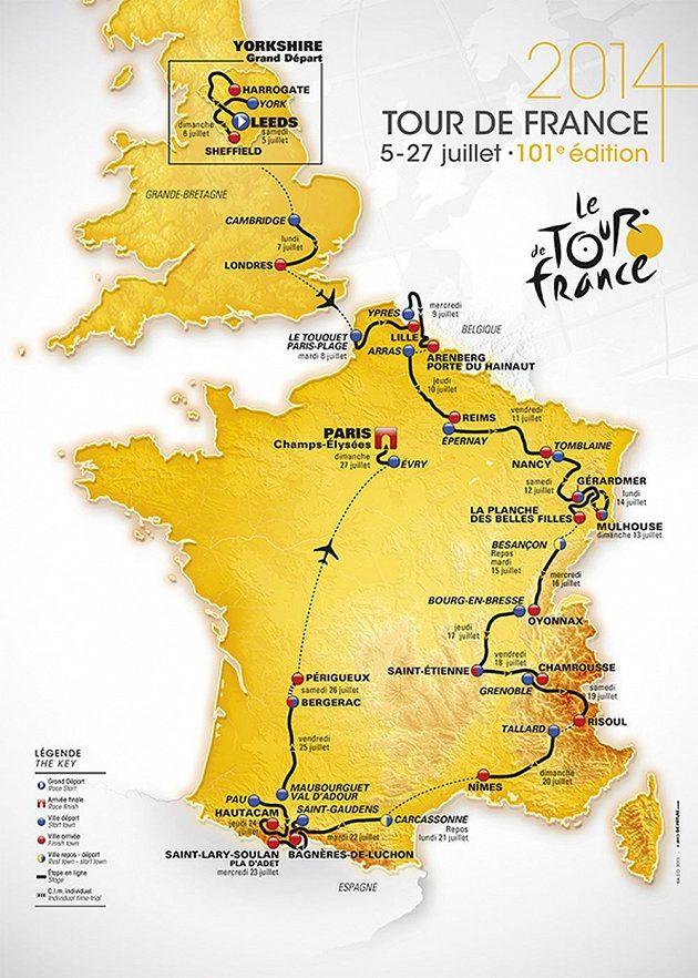 Organizátoři Tour de France 2014 naplánovali příští ročník nejslavnějšího cyklistického podniku.