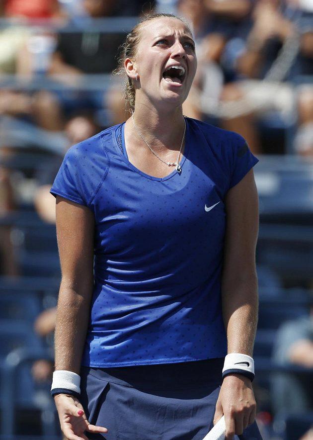 Nespokojená Petra Kvitová.