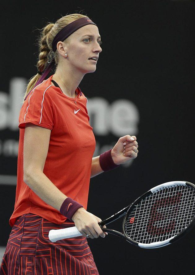 Česká tenistka Petra Kvitová se na turnaji v Brisbane hecovala po povedených úderech, ale k úspěchu jí to nakonec nestačilo.